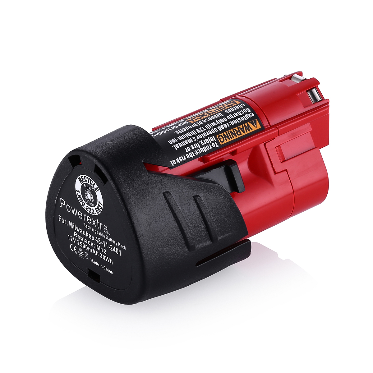 New 12V 2500mAh Milwaukee 48-11-2401 M12 12 Volt Red ...