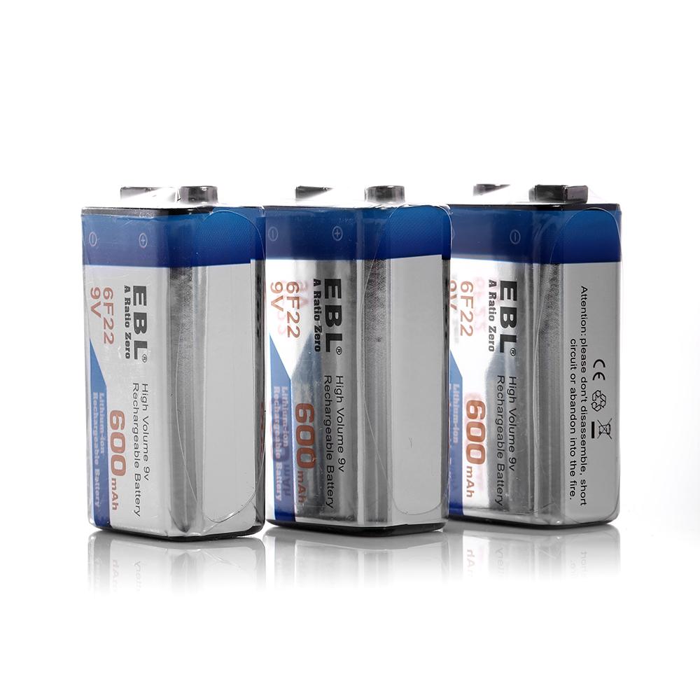 9v 9 volt 6f22 li ion lithium ion rechargeable battery 600mah high capacity ebay