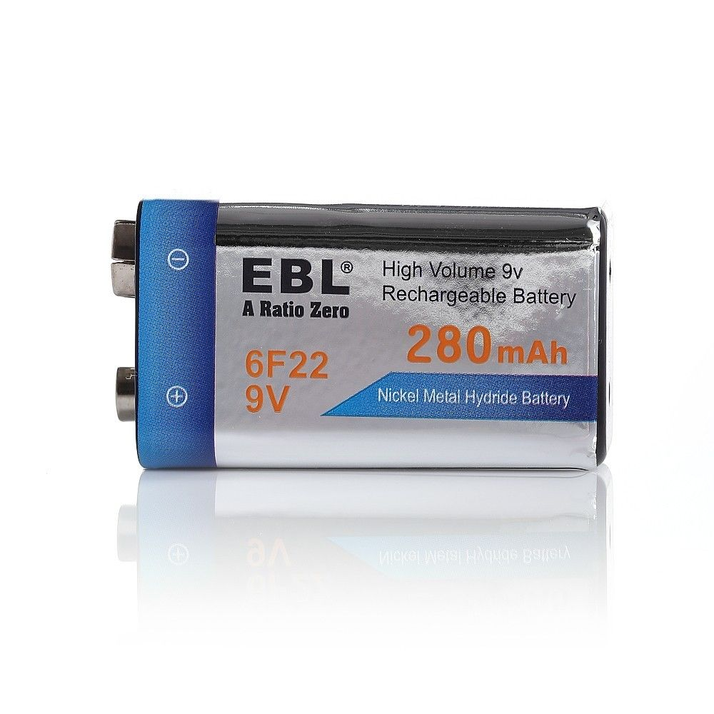 2pcs 9v 280mah ni mh 17r8h 6f22 rechargeable battery ebl block battery ebay. Black Bedroom Furniture Sets. Home Design Ideas
