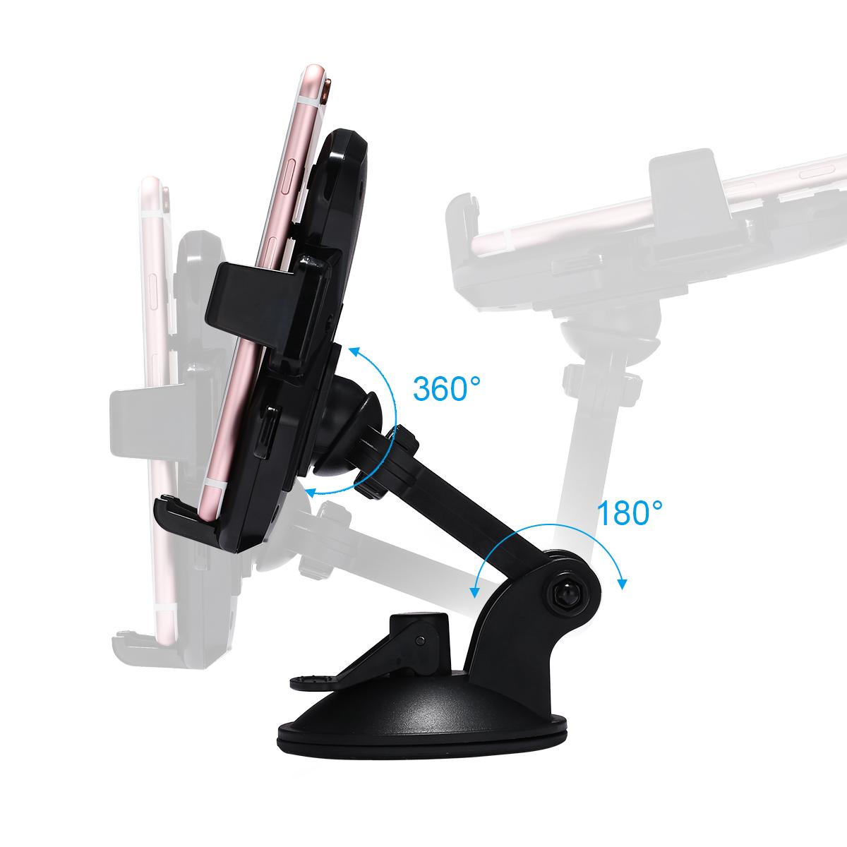 auto lock universal 360 rotating car windshield mount holder for cell phone gps ebay. Black Bedroom Furniture Sets. Home Design Ideas