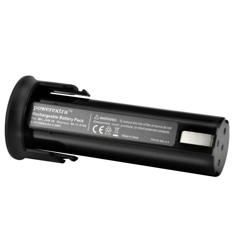 Powerextra 2 4v Volt Nicd 48 11 0100 Battery For Milwaukee