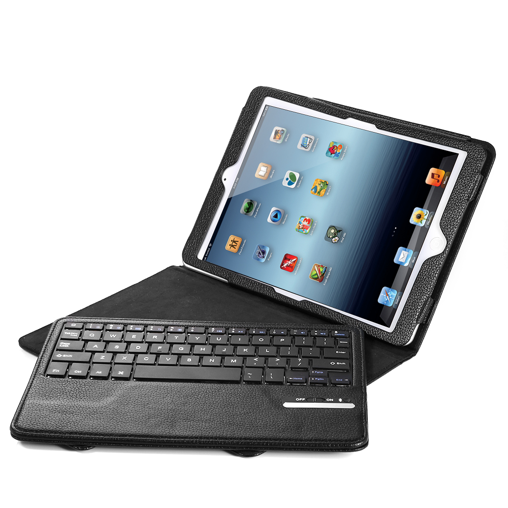 Wireless Bluetooth Keyboard With PU Leather Case Cover For Apple IPad Air/air 2