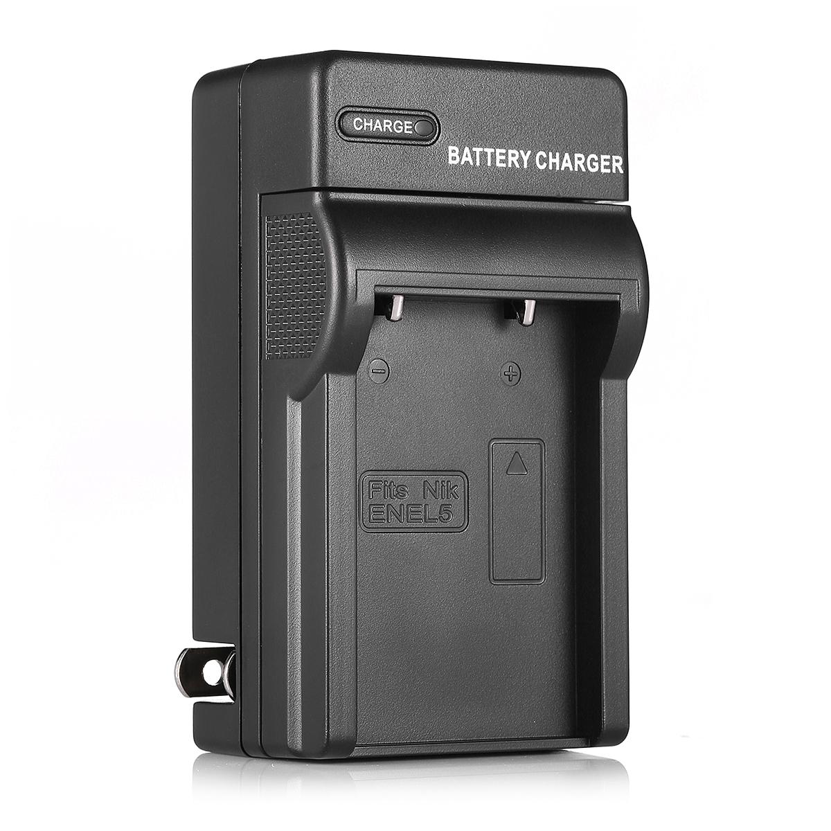 2x En El5 Enel5 Battery Charger For Nikon Coolpix P6000
