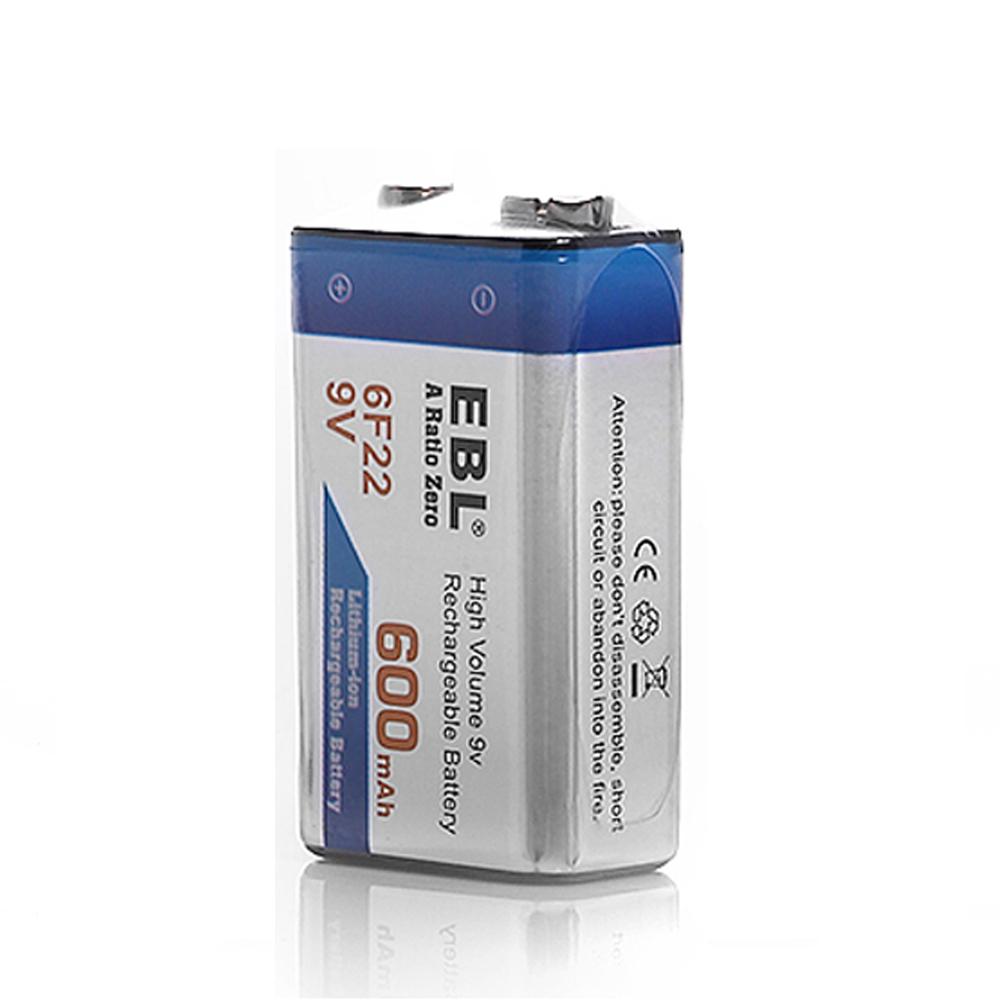 2x ebl 600mah 9v li ion rechargeable batteries 9v 9 volt 6f22 aa aaa charger ebay. Black Bedroom Furniture Sets. Home Design Ideas