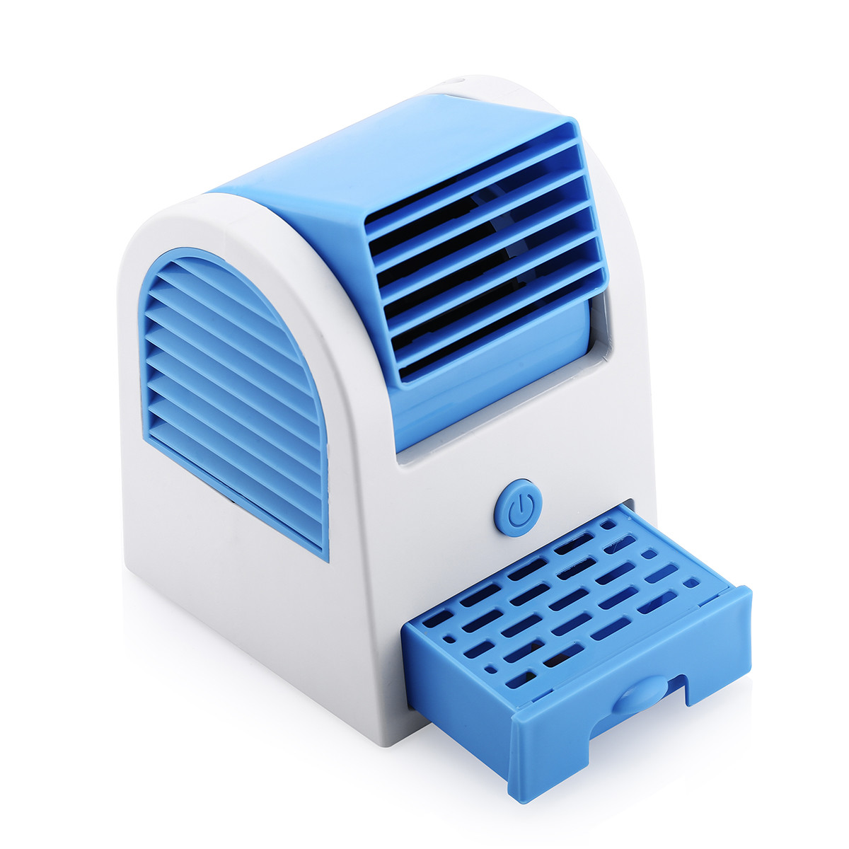 blue portable mini pc usb desktop cooling cooler air conditioner bladeless fan ebay. Black Bedroom Furniture Sets. Home Design Ideas