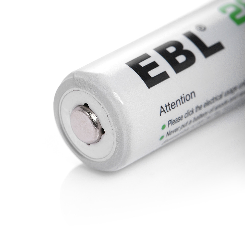 EBL 8x AA 2800mAh Rechargeable Batteries + 8 Slot/Channel ...