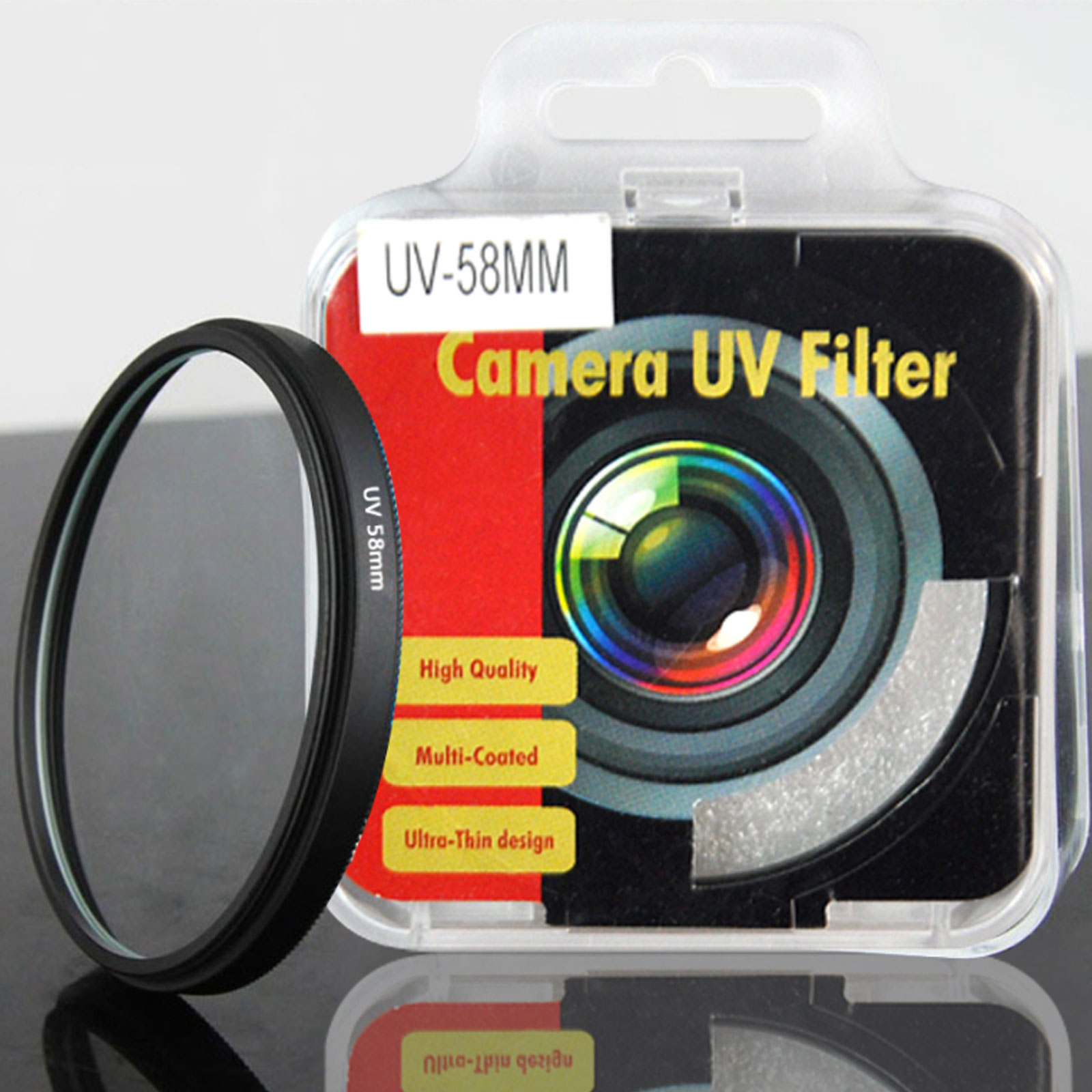 58mm Multl Coating Ultra Violet Uv Filter Lens Protector