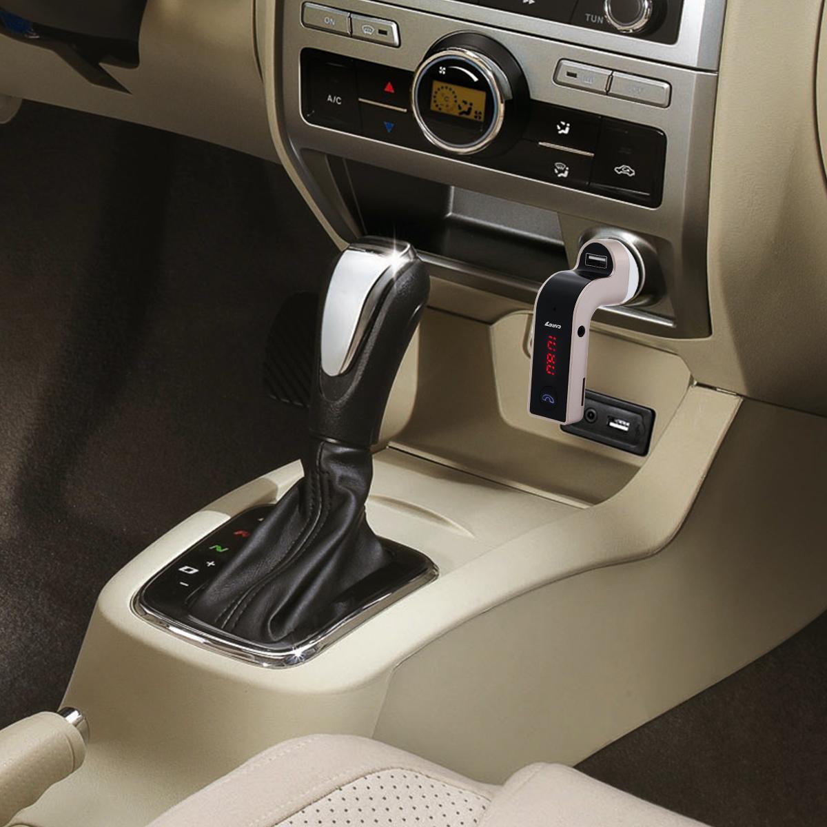 Bluetooth Car Kit Wireless FM Transmitter USB LCD Charger Radio MP3 Player 5