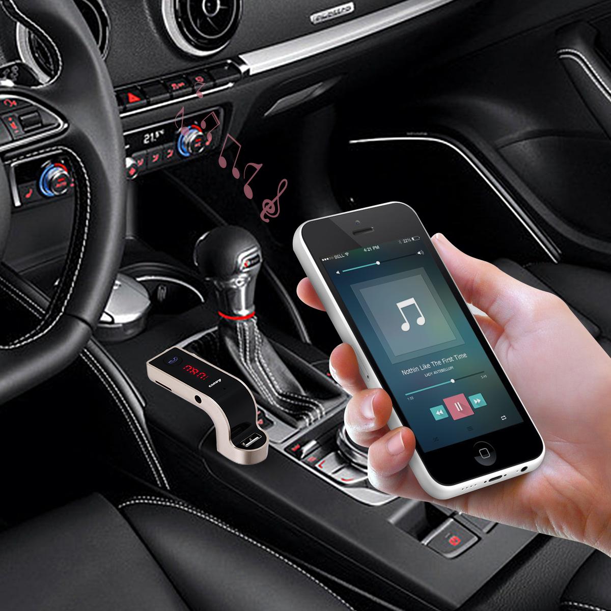 Bluetooth Car Kit Wireless FM Transmitter USB LCD Charger Radio MP3 Player 6