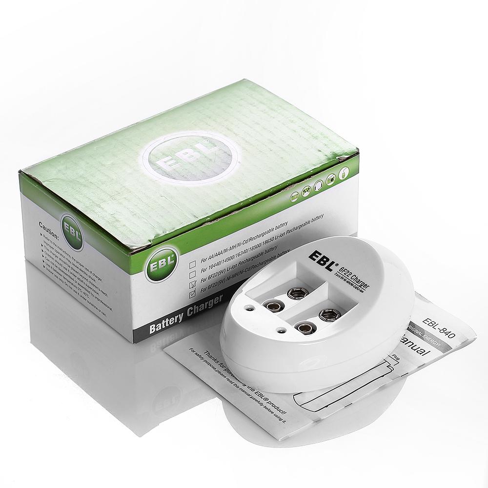 EBL Battery Charger for 9V li-ion NI-CD NI-MH Rechargeable ...