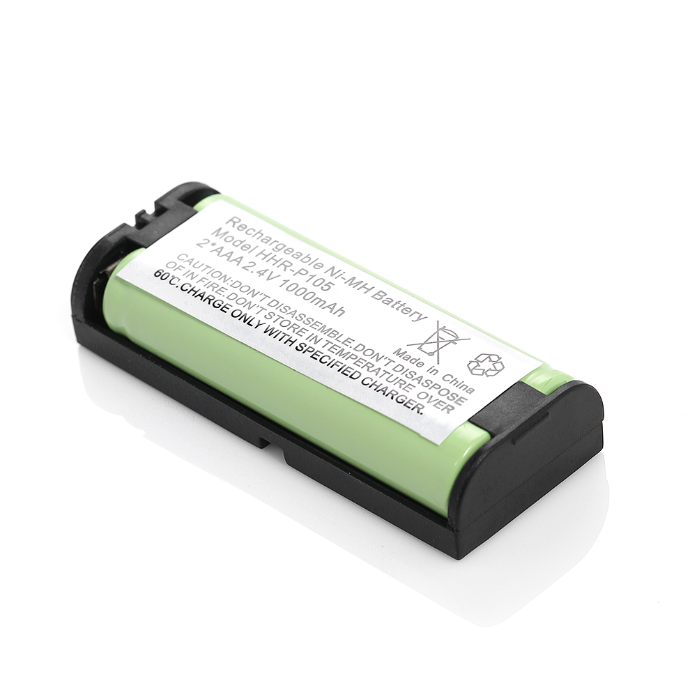 2pc 1000mah 2 4v ni mh replacement cordless phone battery for panasonic hhr p105 ebay. Black Bedroom Furniture Sets. Home Design Ideas