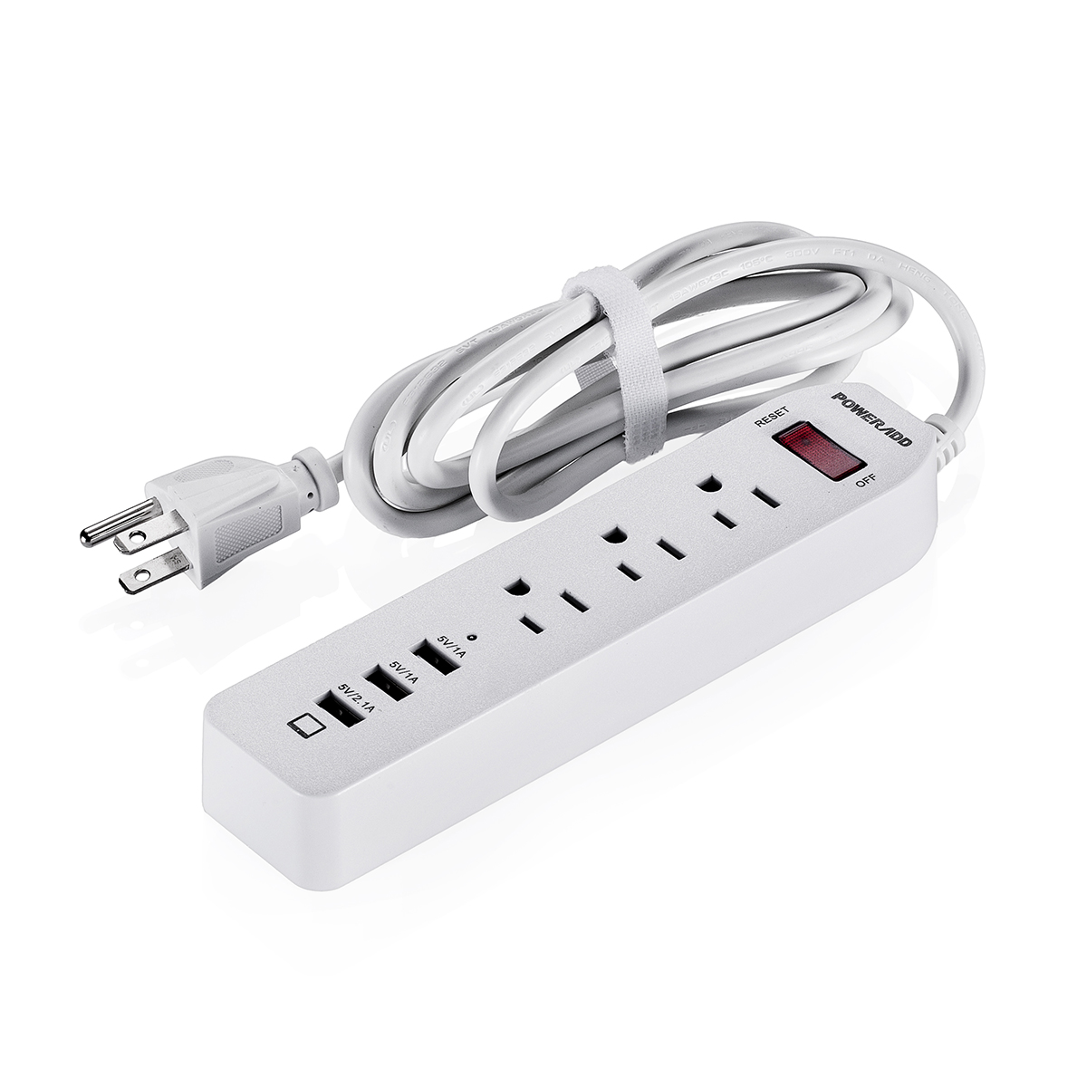 poweradd 3 outlets surge protector power strip socket with 3 usb charging port ebay. Black Bedroom Furniture Sets. Home Design Ideas